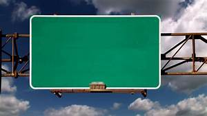 Blank Road Sign Green Screen Stock Video Footage - VideoBlocks