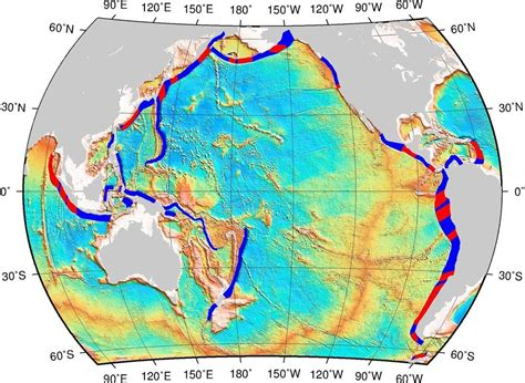 subduction zones map fracture oceanic zone earthquake earthquakes major science plates regions spots parts found between showing which maps sciencedaily