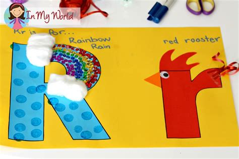 letter r crafts preschool letter r in my world