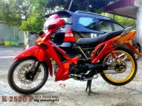 Modif Supra X 125 Warna Hijau by Modifikasi Supra X 125 Warna Hijau Thecitycyclist