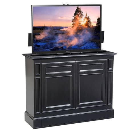 Chatham Black 360 Swivel Tv Lift Cabinet Foot Of The Bed