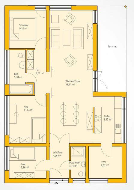 Moderne Häuser Und Grundrisse by Grundriss Moderner Bungalow H 228 User Moderner Bungalow
