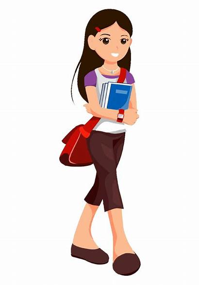 Cartoon Clipart Teen Teenage Students Transparent Student