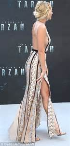 illusion earrings diamond margot robbie flashes a hint of sideboob at