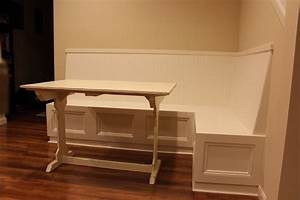 Furniture Brown Wooden Nook Bench With Storage Using