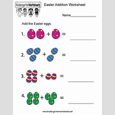 This Easter Egg Addition Worksheet Allows Kids To Practice Counting And Adding Easter Eggs