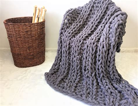 Super Chunky Chenille Yarn Blanket. Super Soft And Bulky, Child And Pet Friendly, Washable And What Is Another Word For Pigs In A Blanket Cellular Blankets King Size When Can Baby Sleep With And Pillow Fancy Hang On Wall My Toddler Cheap Double Electric Red Cotton Twin
