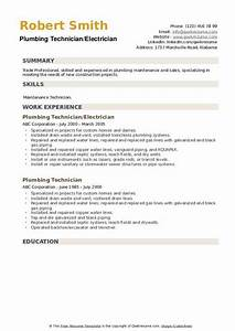 Plumbing Technician Resume Samples