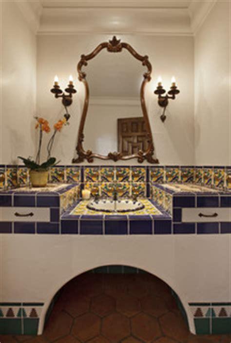 spanish colonial mediterranean bathroom santa