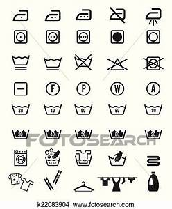 Symboles Lavage Vêtements : clipart lessive lavage instruction ic ne symboles ~ Melissatoandfro.com Idées de Décoration