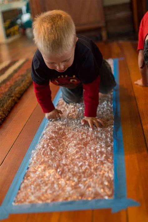 bubble wrap runway  kids   ages infant