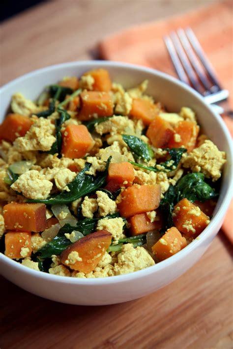 Tofu Scramble With Kale and Sweet Potatoes | Healthy