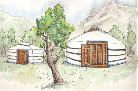 chambre hote vercors illustration des yourtes sur le terrain location de