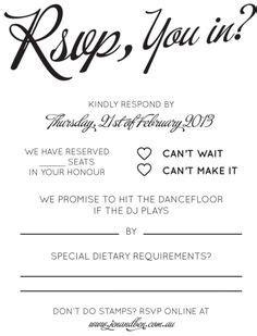 rsvp wording images wedding stationery ticket