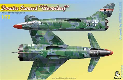 dornier canard cloverleaf  model kit  unicraft