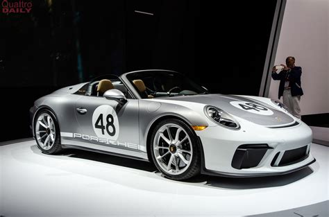 Porche Nyc by 2019 Ny Auto Show Porsche 911 Speedster Wows The Crowd In