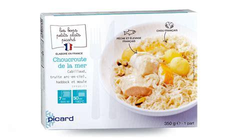 plat cuisiné picard choucroute de la mer surgelés les plats cuisinés picard