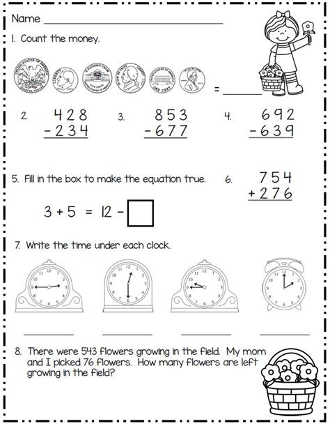 spring math worksheets for 2nd grade smiling and shining in second grade spring math for