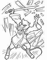 Coloring Pages Splinter Ninja Turtles Cartoons Shredder Donatello sketch template
