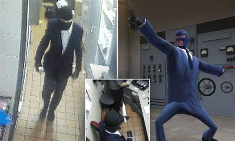 bandit  robbed nsw mcdonalds dressed   spy