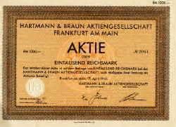 Hartmann Möbel Preisliste : historische aktien und wertpapiere aus aller welt hartmann braun h b ~ Frokenaadalensverden.com Haus und Dekorationen