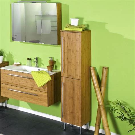 badezimmer  tlg bambus massiv seidenmatt waschplatz