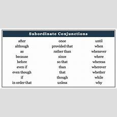 24 Subordinating Conjunctions Because, Since, Like, When, If, As,   Myenglishteachereu Blog