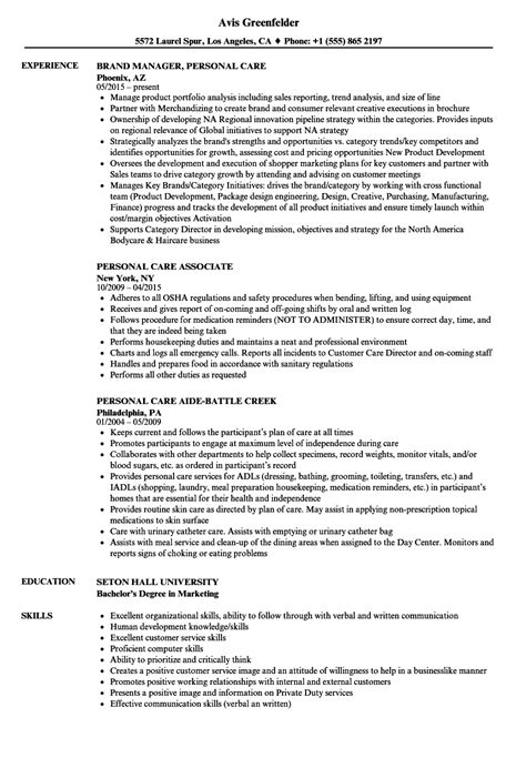 Wound Care Resume Sle by Personal Care Resume Sles Velvet