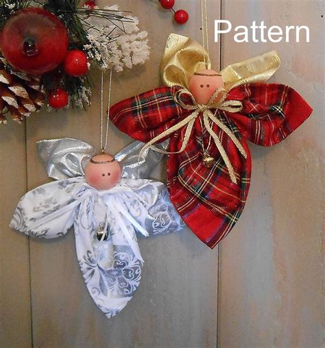 pattern christmas holiday angel ornament 92 primitive