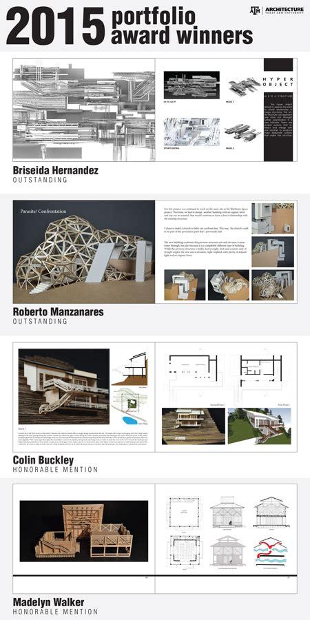 Undergraduate Portfolio Winners  College Of Architecture
