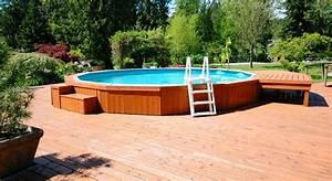 Amenagement Autour Piscine Hors Sol : id es d am nagement d une piscine hors sol ~ Nature-et-papiers.com Idées de Décoration