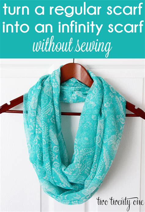 turn  regular scarf   infinity scarf