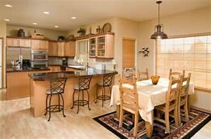 la cuisine ouverte sur la salle a manger 55 photos With lampe salle À manger pour petite cuisine Équipée