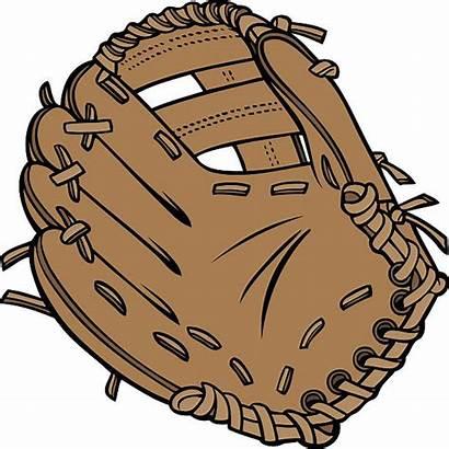 Glove Baseball Cartoon Clipart Clip Vector Mitt