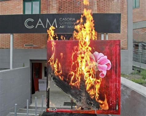 avant garde contemporary art museum burns  collection