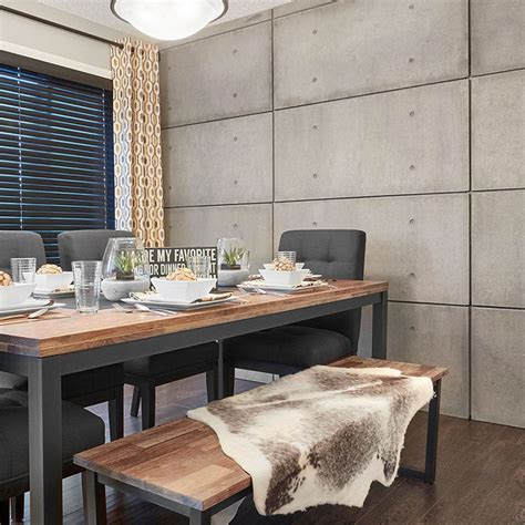 Stone wall decorating ideas, modern living room wall decoration with natural stone, home interior wall decor, stone wall design ideas for dining room. DIY concrete wall panels   Wall cladding interior ...