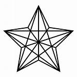 Estrella Estrela Transparent Poligonal Clipart Bethlehem Tattoo