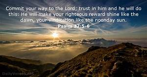 Psalm 37:5 6 Bible verse of the day DailyVerses net