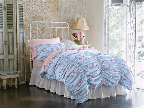 simply shabby chic cabbage rose rouged duvet set