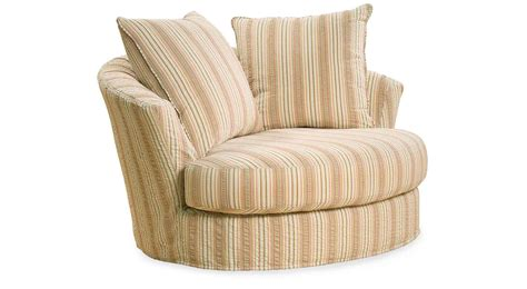 Furniture Half Oversized Armchair With Stripes Light Brown