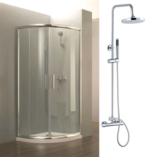 Complete Shower Units by Easy Quadrant Walk In 6mm Glass Shower Enclosure 760x760mm