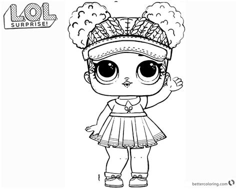 lol surprise doll coloring pages series  court champ