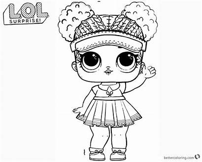 Lol Coloring Surprise Doll Pages Printable Champ