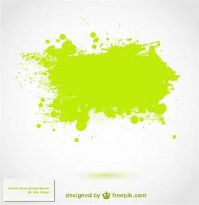 Green splatter vector background Free Vector