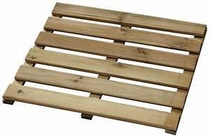 dalle en bois de pin traite autoclave classe 3 50x50 cm ep With dalle bois terrasse 50x50