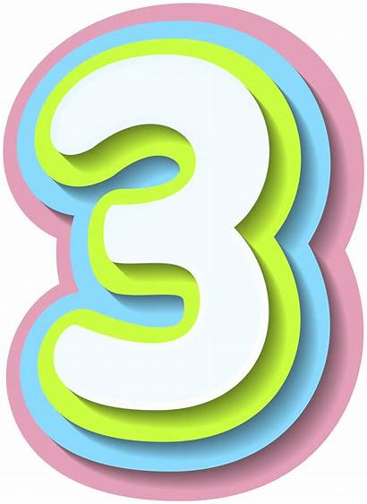 Number Clipart Three Bright Decorative Numbers Yopriceville