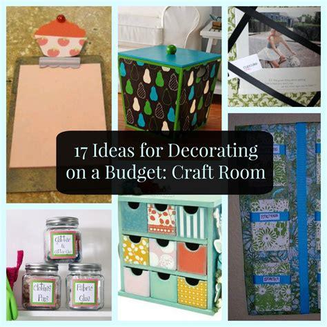 ideas  decorating   budget craft room