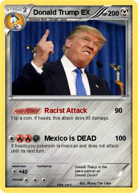 Welcome to another drunk unboxing where we get drunk and open a pokemon sun and moon booster box! Pokémon Donald Trump EX 5 5 - Racist Attack - My Pokemon Card