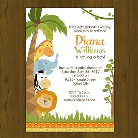 safari baby shower invitation jungle baby shower