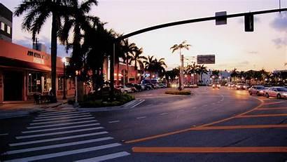 Florida Hollywood Wallpapers Allwallpaper Palme Stadt